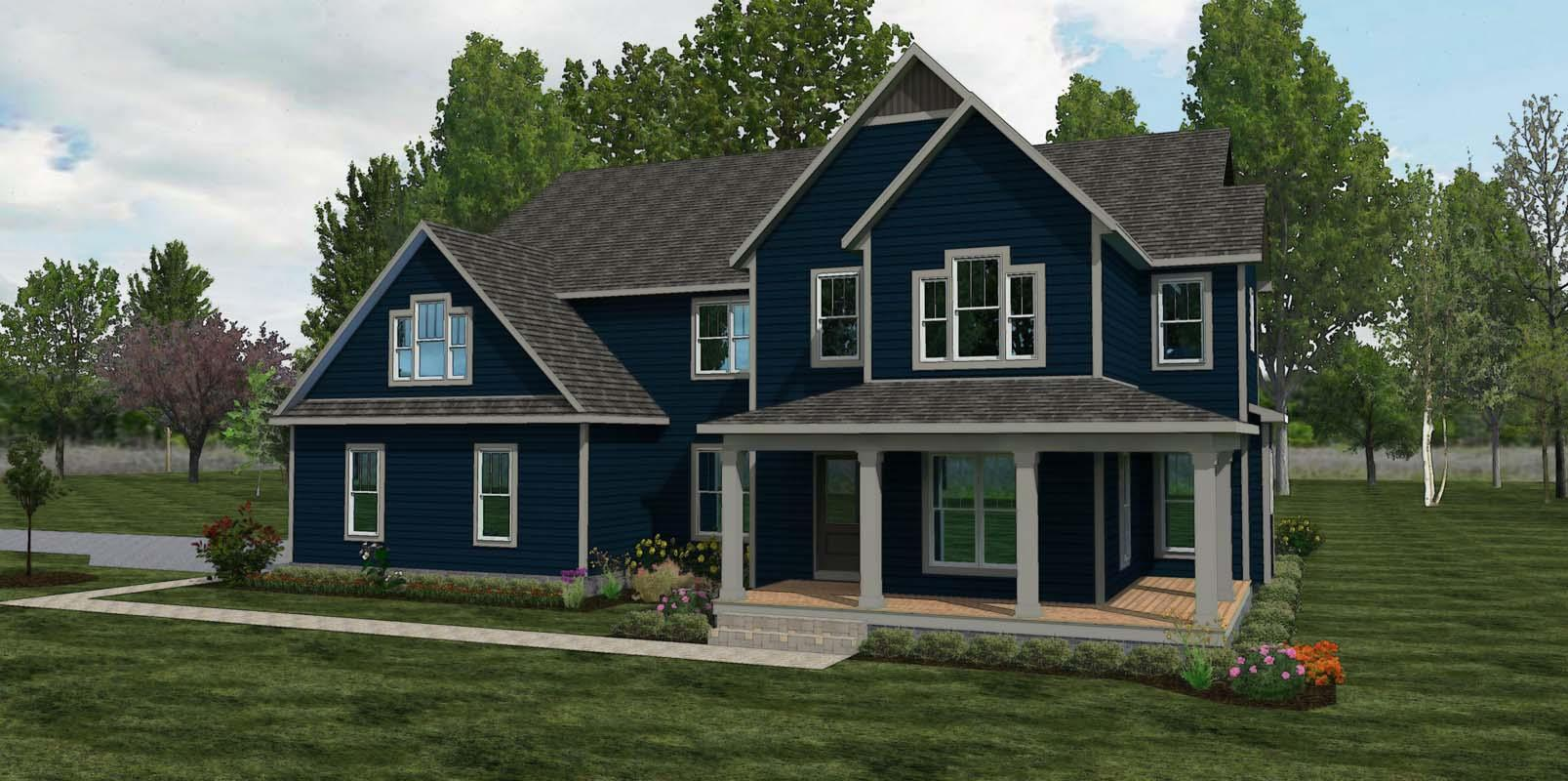 Exterior featured in The Grant By American Heritage Homes in Columbus, OH