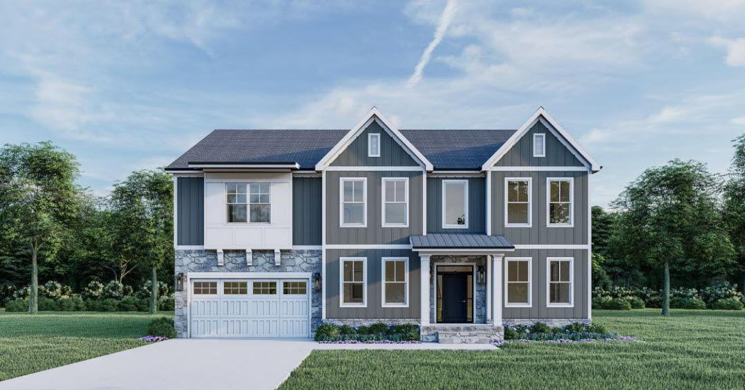 Exterior featured in The Begonia By Anchor Homes LLC in Washington, VA