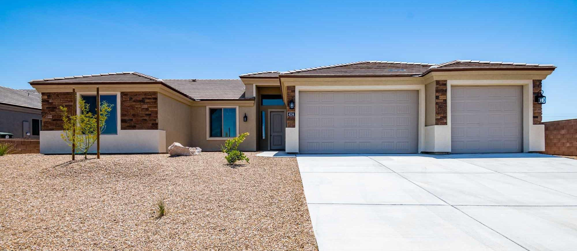Exterior featured in the Ocotillo 2084 By Angle Homes in Kingman-Lake Havasu City, AZ