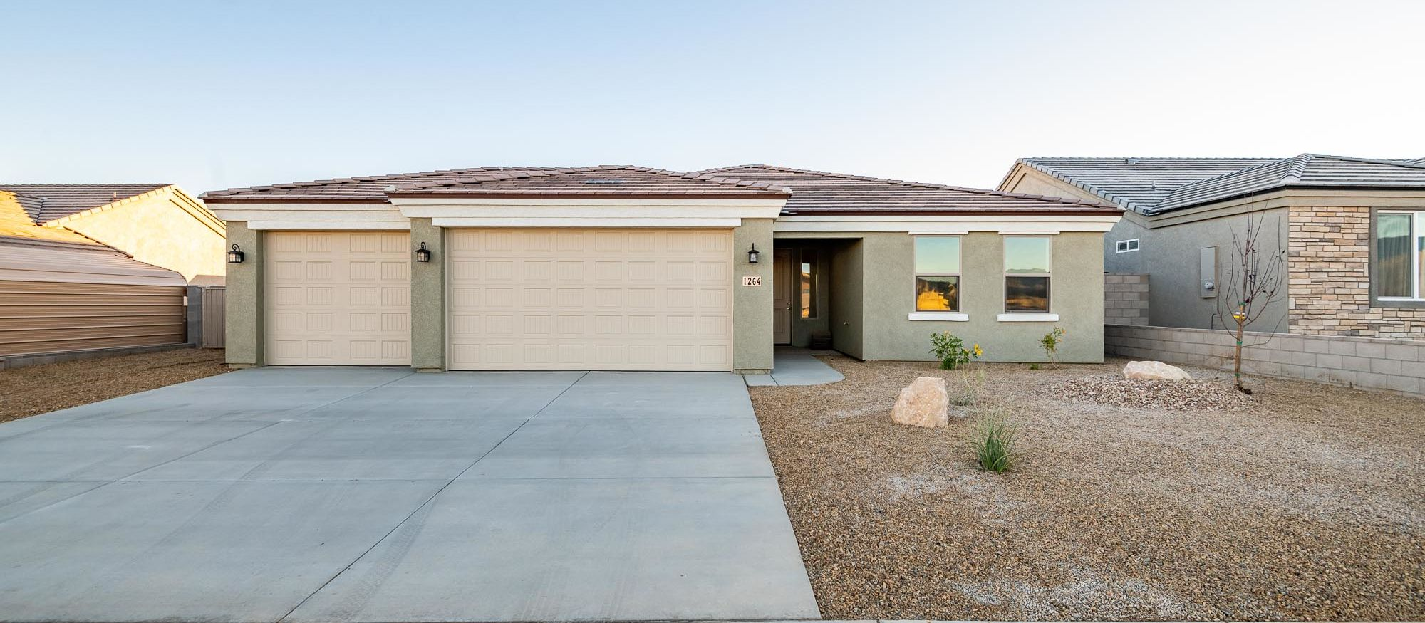 Exterior featured in the Ironwood 1593 By Angle Homes in Kingman-Lake Havasu City, AZ