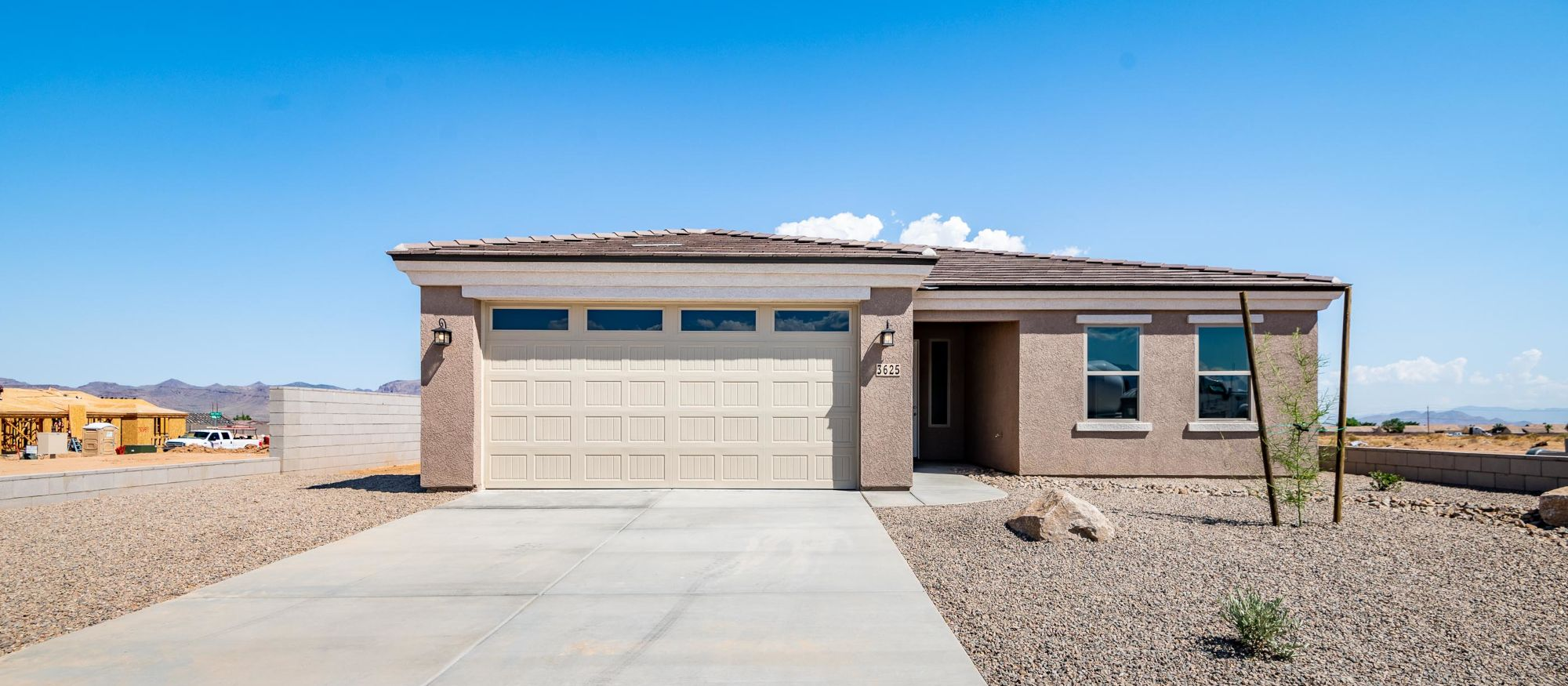 Exterior featured in the Ironwood 1593 2 Car By Angle Homes in Kingman-Lake Havasu City, AZ