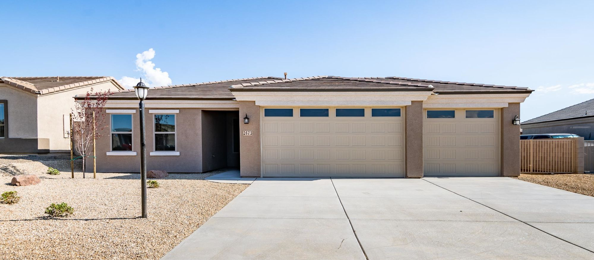 Exterior featured in the Ironwood 1593 3 Car By Angle Homes in Kingman-Lake Havasu City, AZ