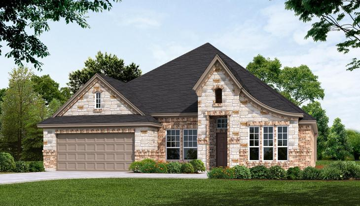 Exterior:Plan 2465 Elevation-A - STONE