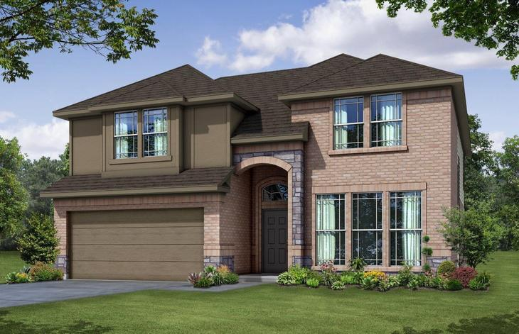 Exterior:Plan 2585 A with Stone