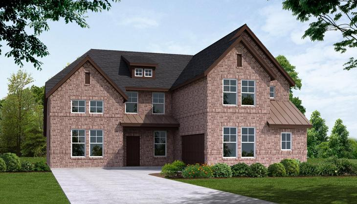 Exterior:Plan 3354 -A Front Elevation Brick
