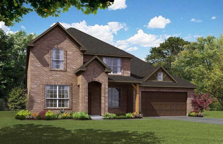 Exterior:Antares Homes Sig Series 3218 A-Brick