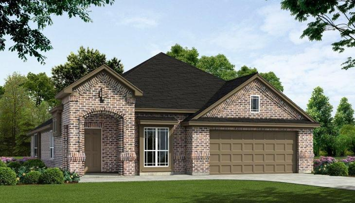 Exterior:PLAN - 2242 FRONT ELEVATION 'A Brick