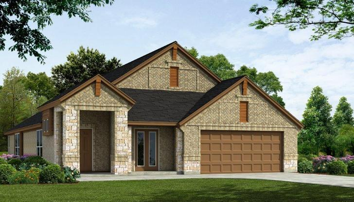 Exterior:PLAN - 2242 FRONT ELEVATION 'B Stone