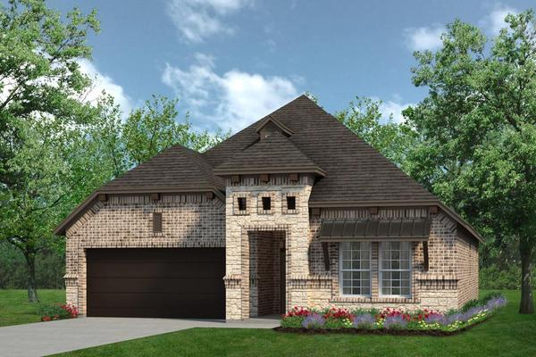 Exterior:Concept 1841 Elevation C With Stone