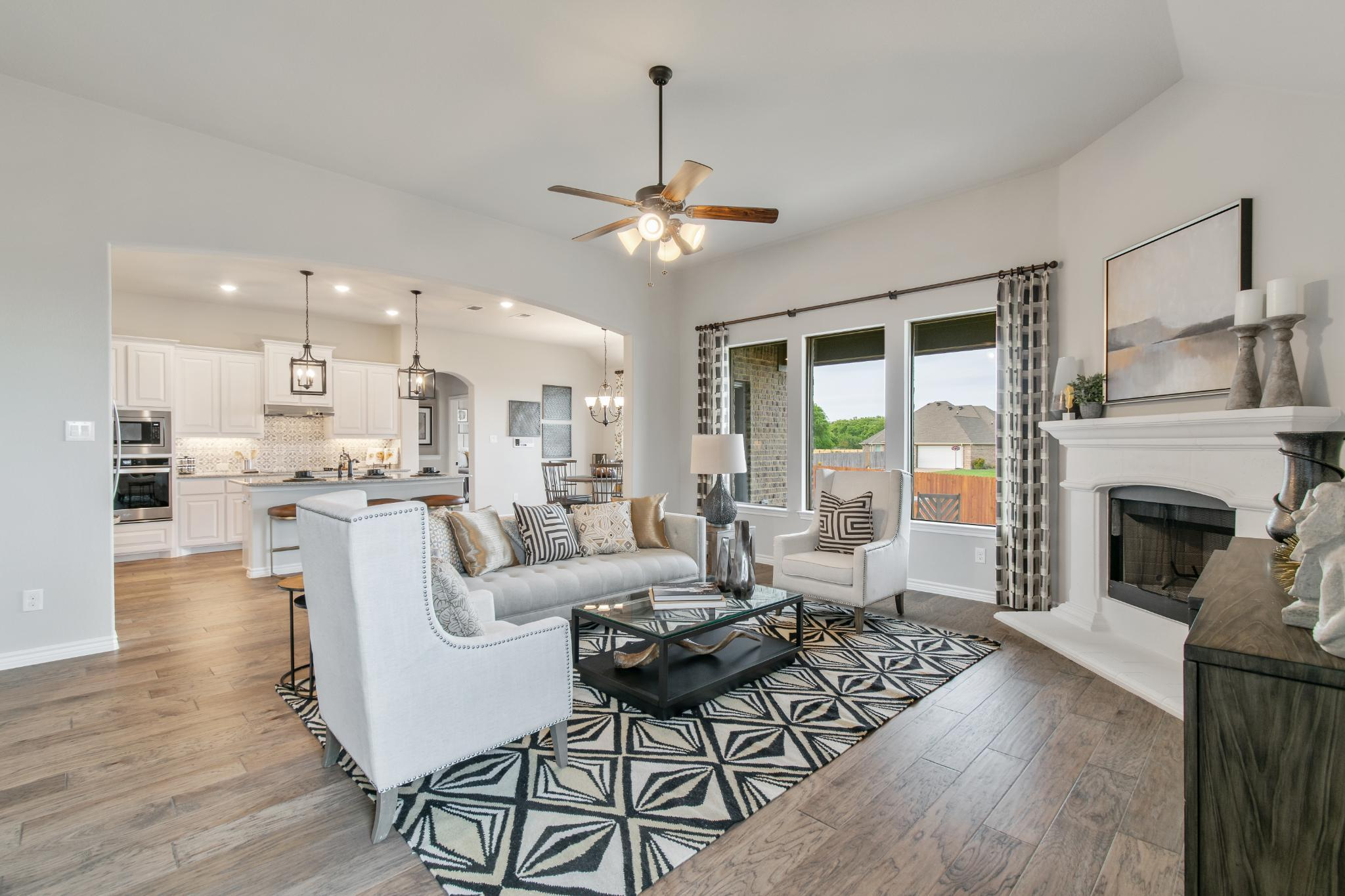 Living Area featured in the 2434 By Antares Homes in Fort Worth, TX