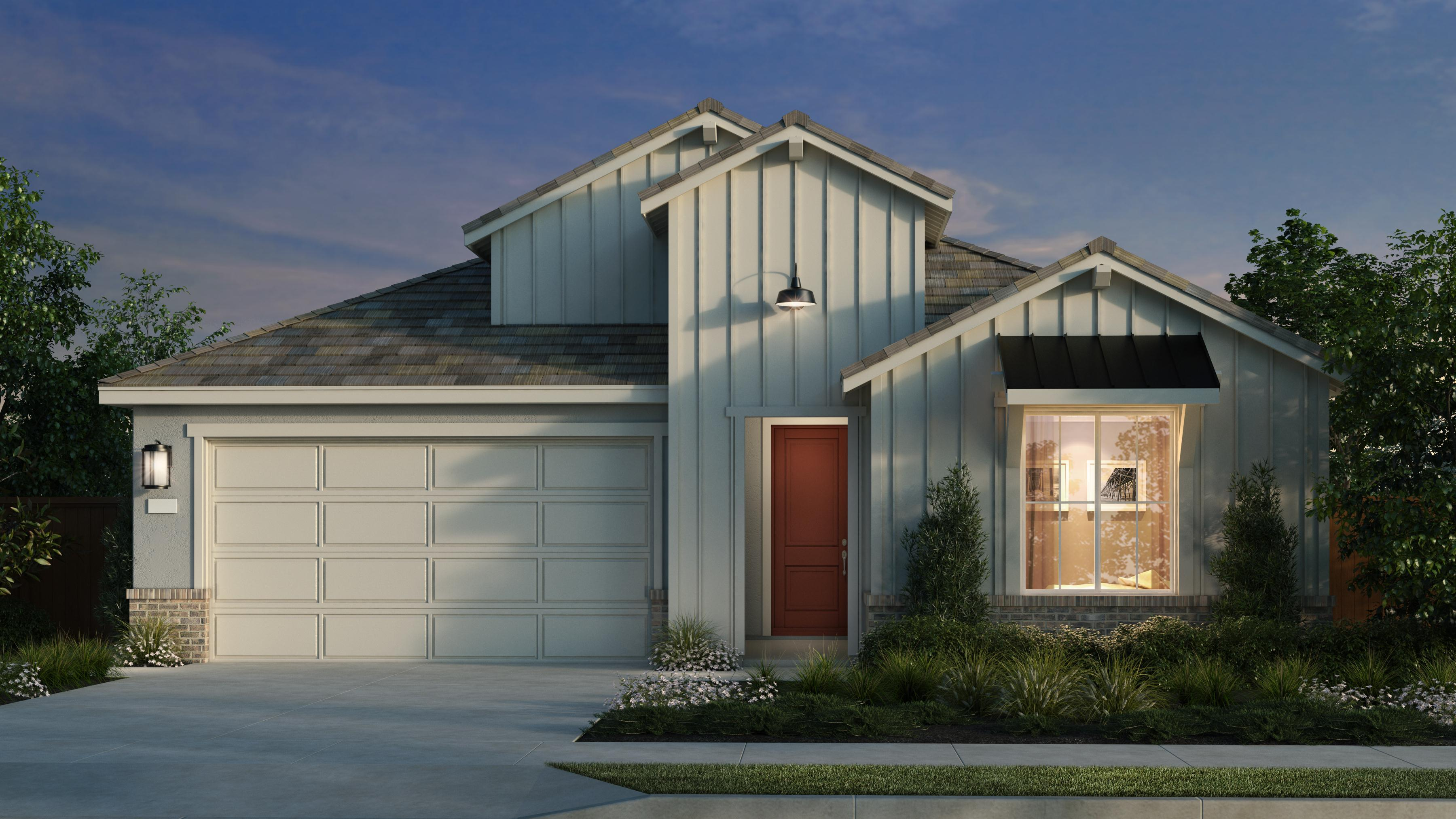 Exterior featured in the Plan 1 Iron Ridge By Anthem United Homes Inc in Sacramento, CA