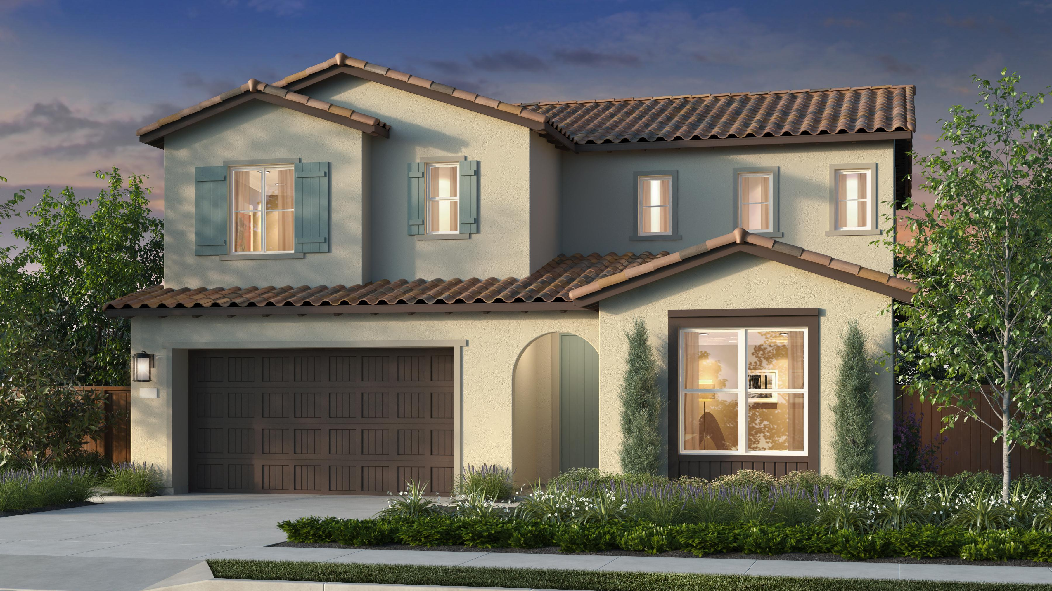 Exterior featured in the Plan 2 Iron Ridge By Anthem United Homes Inc in Sacramento, CA