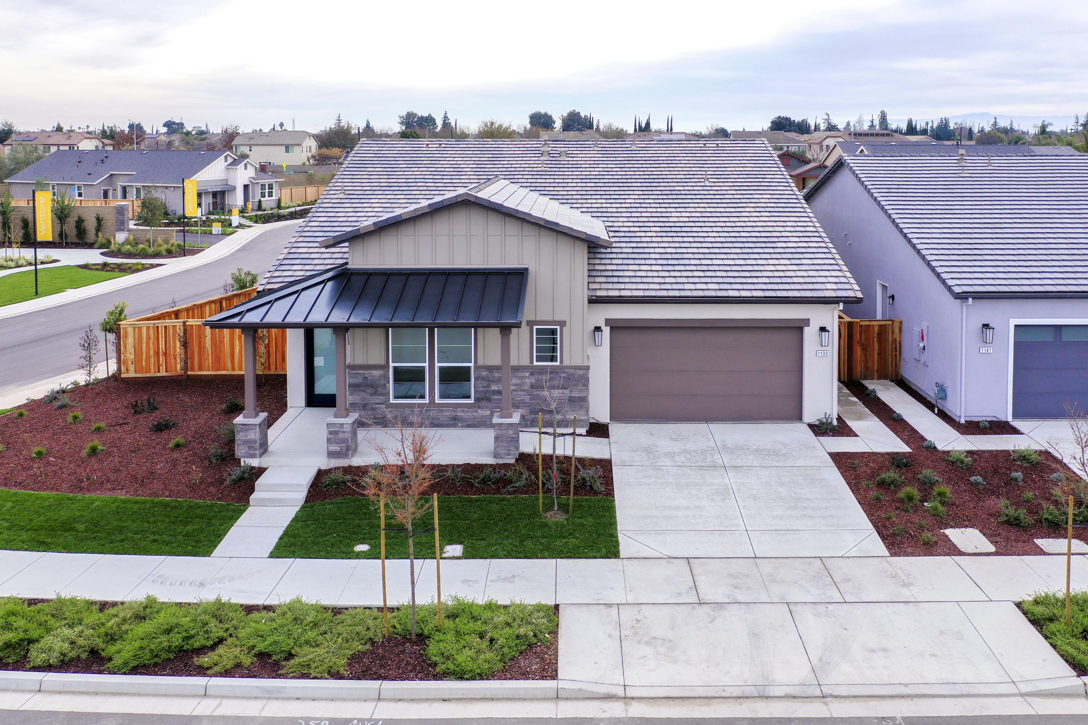 Exterior featured in the Plan 1 Bungalow By Anthem United Homes Inc in Stockton-Lodi, CA