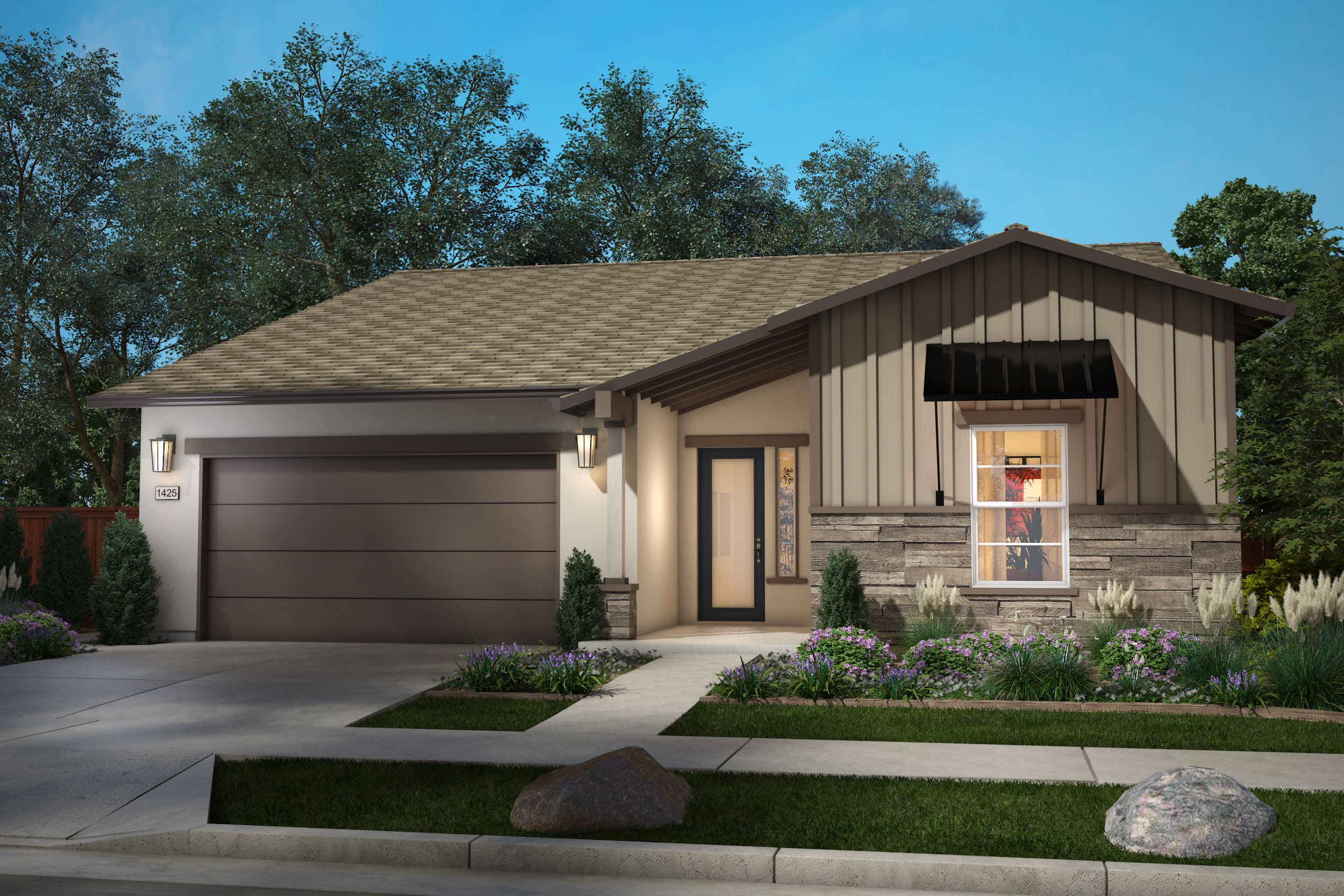 Exterior featured in the Plan 2 Bungalow By Anthem United Homes Inc in Stockton-Lodi, CA