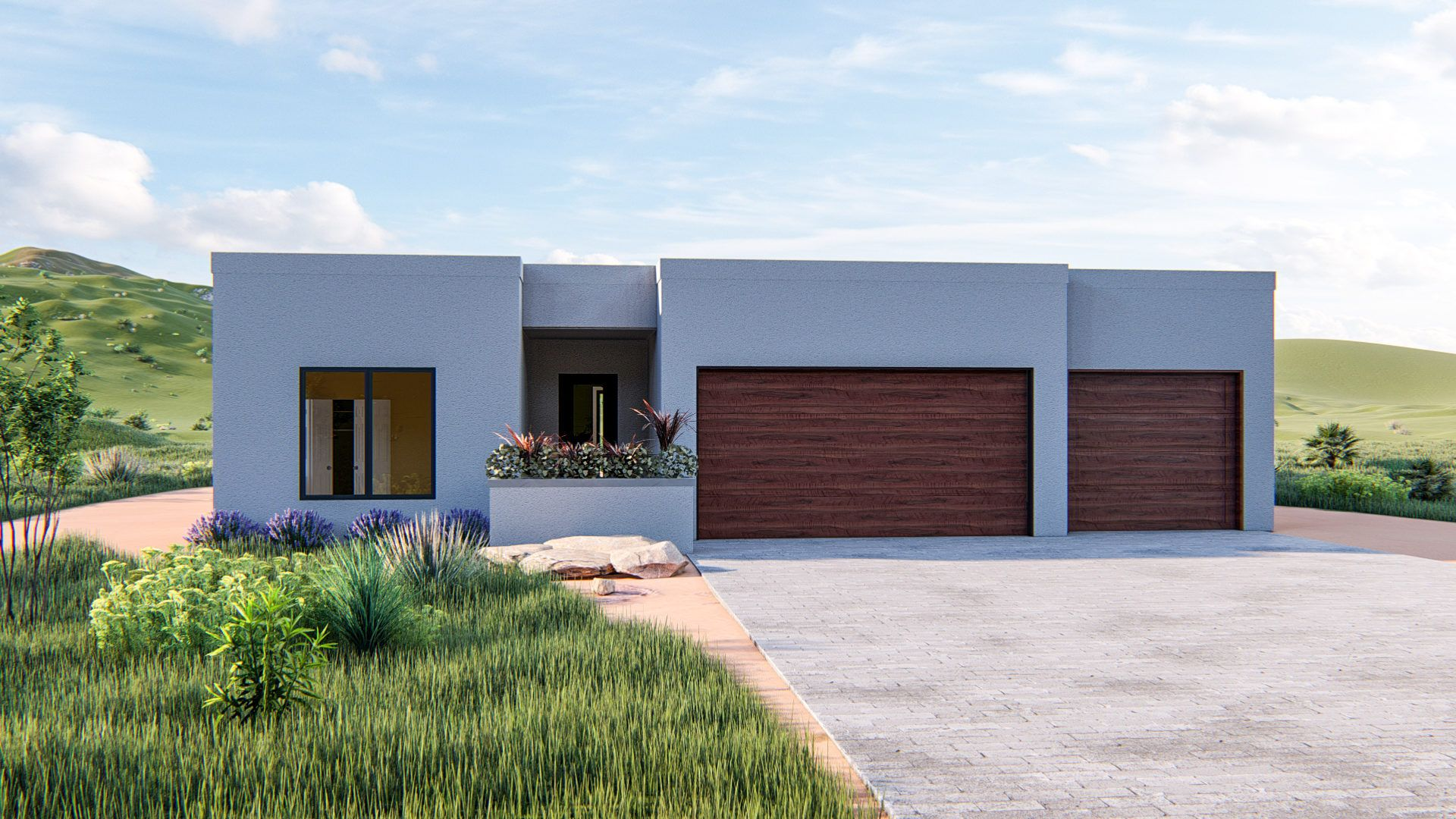 Exterior featured in the Gleeson SW 3 Car By MC2 Homes in Tucson, AZ