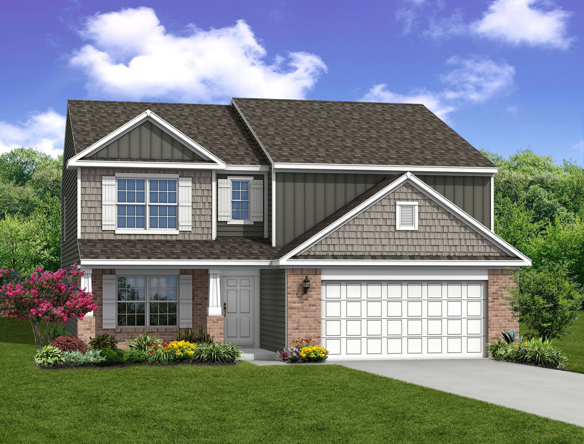 Exterior featured in The Norway By Arbor Homes, LLC in Kokomo, IN