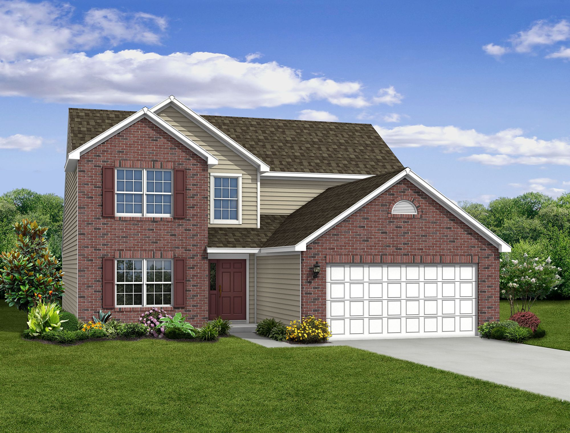 Exterior featured in The Cottonwood By Arbor Homes, LLC in Indianapolis, IN