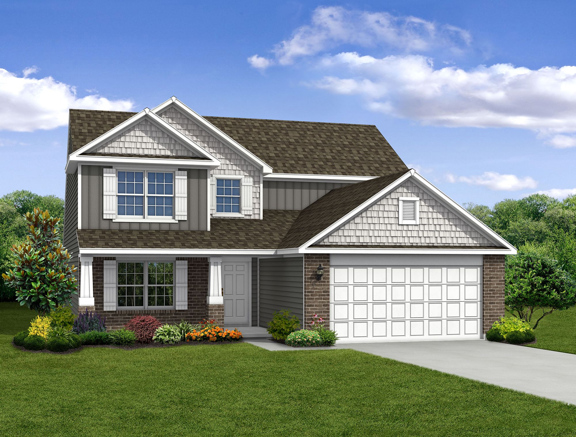 Exterior featured in The Cottonwood By Arbor Homes, LLC in Louisville, KY
