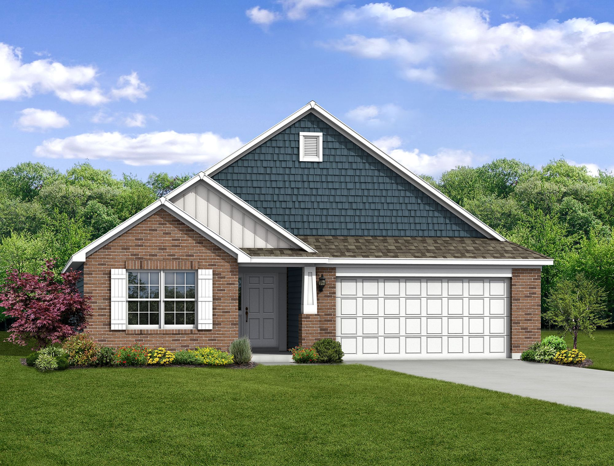 Exterior featured in The Chestnut By Arbor Homes, LLC in Kokomo, IN