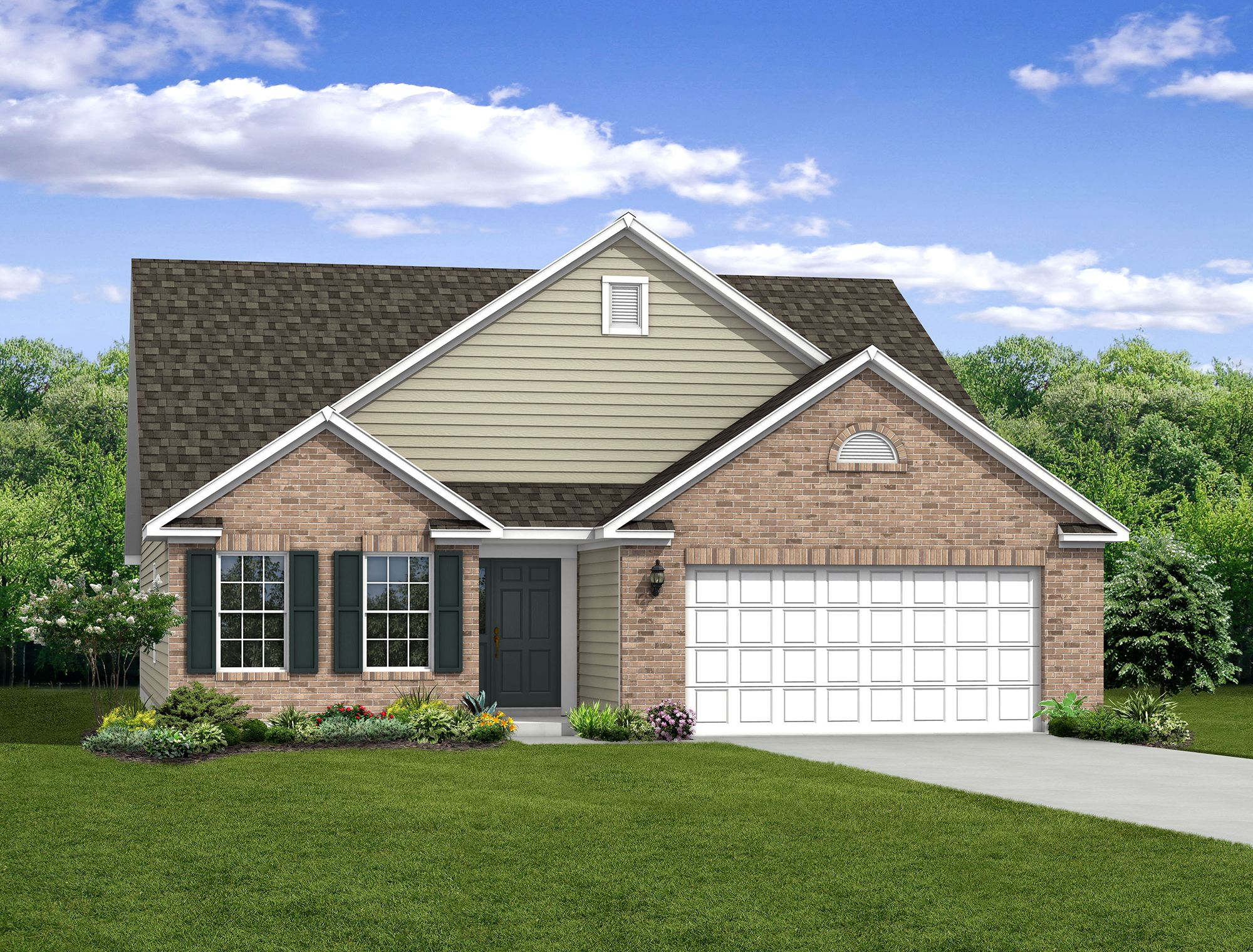 Exterior featured in The Chestnut By Arbor Homes, LLC in Indianapolis, IN