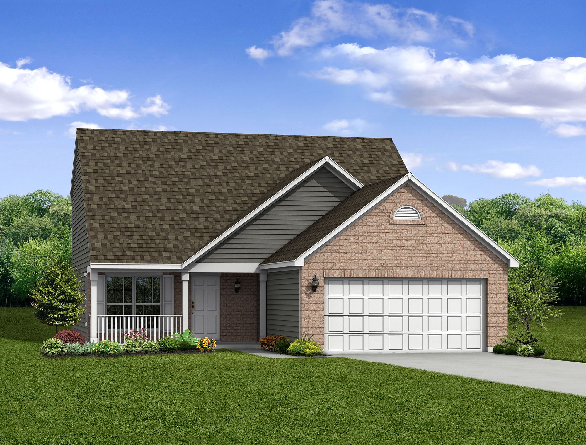 Exterior featured in The Magnolia By Arbor Homes, LLC in Indianapolis, IN