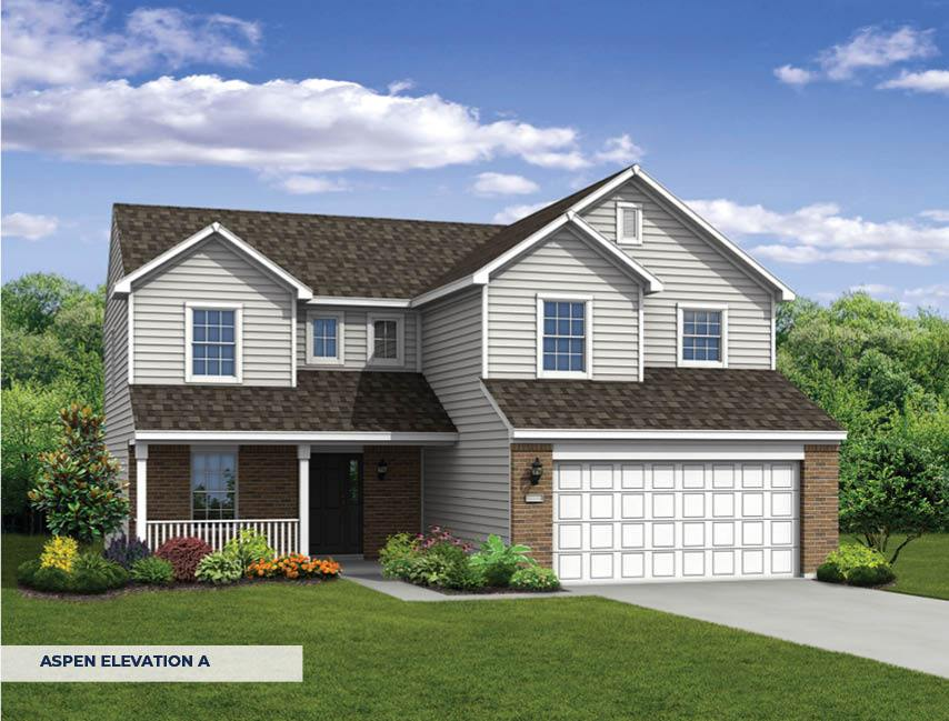 Exterior featured in The Aspen By Arbor Homes, LLC in Indianapolis, IN