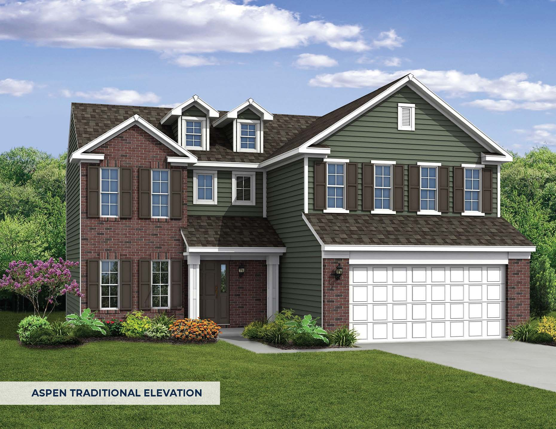 Exterior featured in The Aspen By Arbor Homes, LLC in Louisville, KY