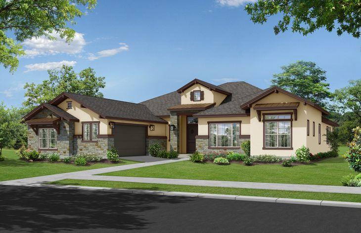 Devereaux Hill Country Elevation:Devereaux Hill Country by Ash Creek Homes