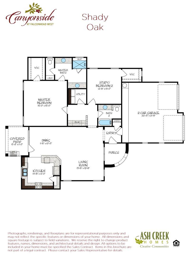 Shady Oak Floorplan