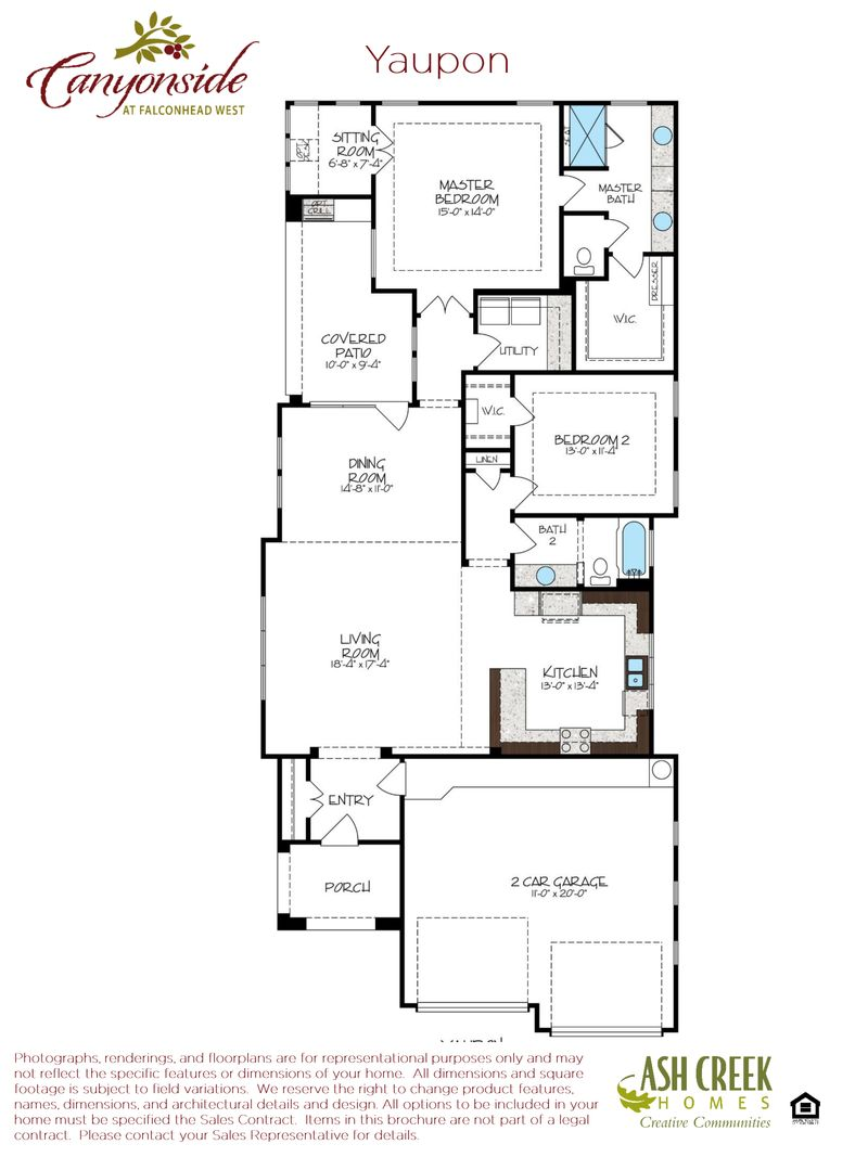 Yaupon home plan by ash creek homes inc in canyonside at for Zero footprint homes