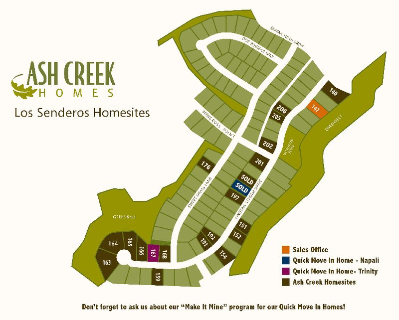 Lot Map of Los Senderos