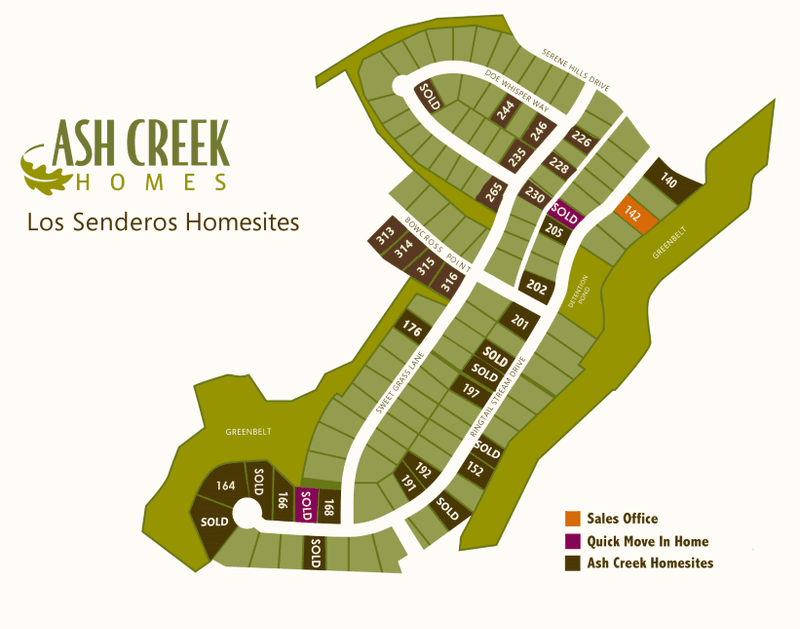 Serene Hills Lot Map