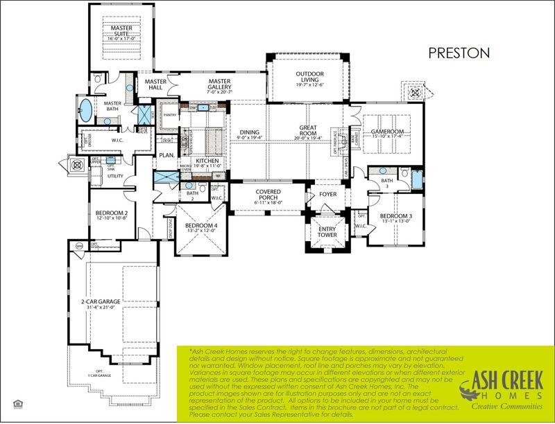 Preston Floorplan