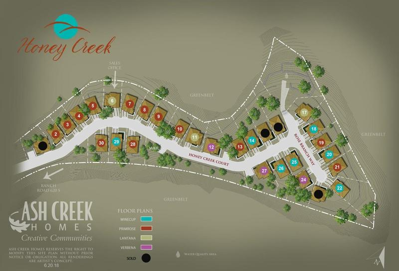 Honey Creek Lot Map