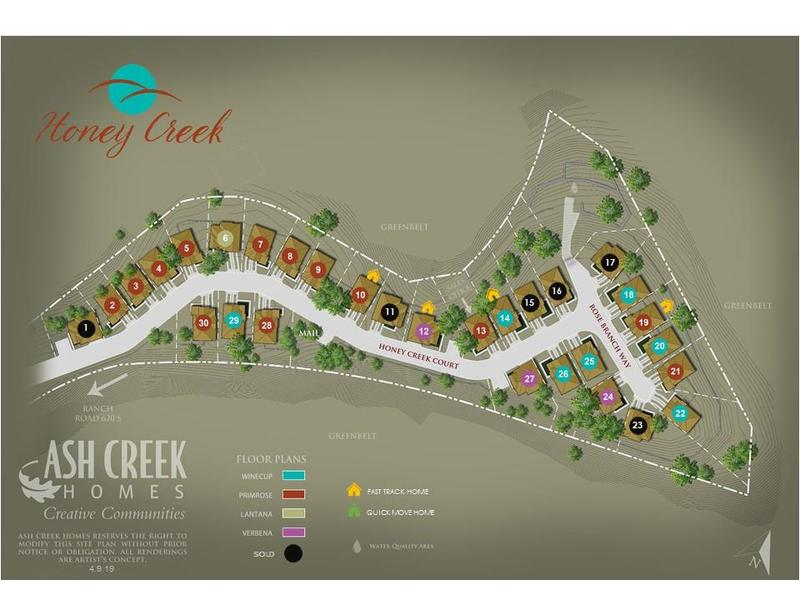 Honey Creek Lot Map