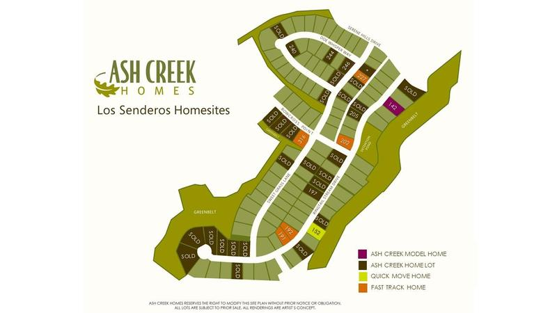 Serene Hills | Los Senderos | Lot Map