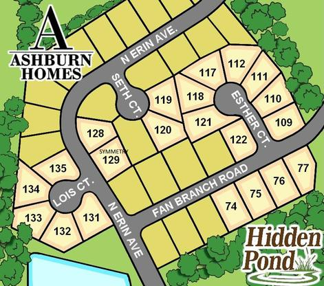 Hidden Pond:Available Lots