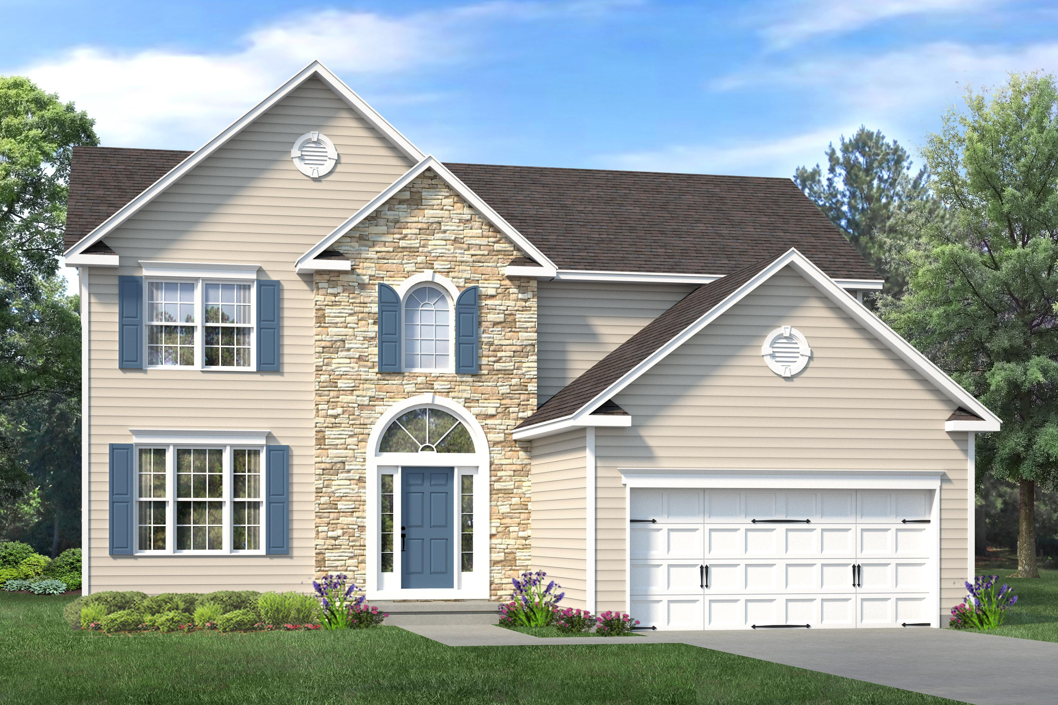 Exterior featured in The Hampshire By Ashburn Homes in Dover, DE