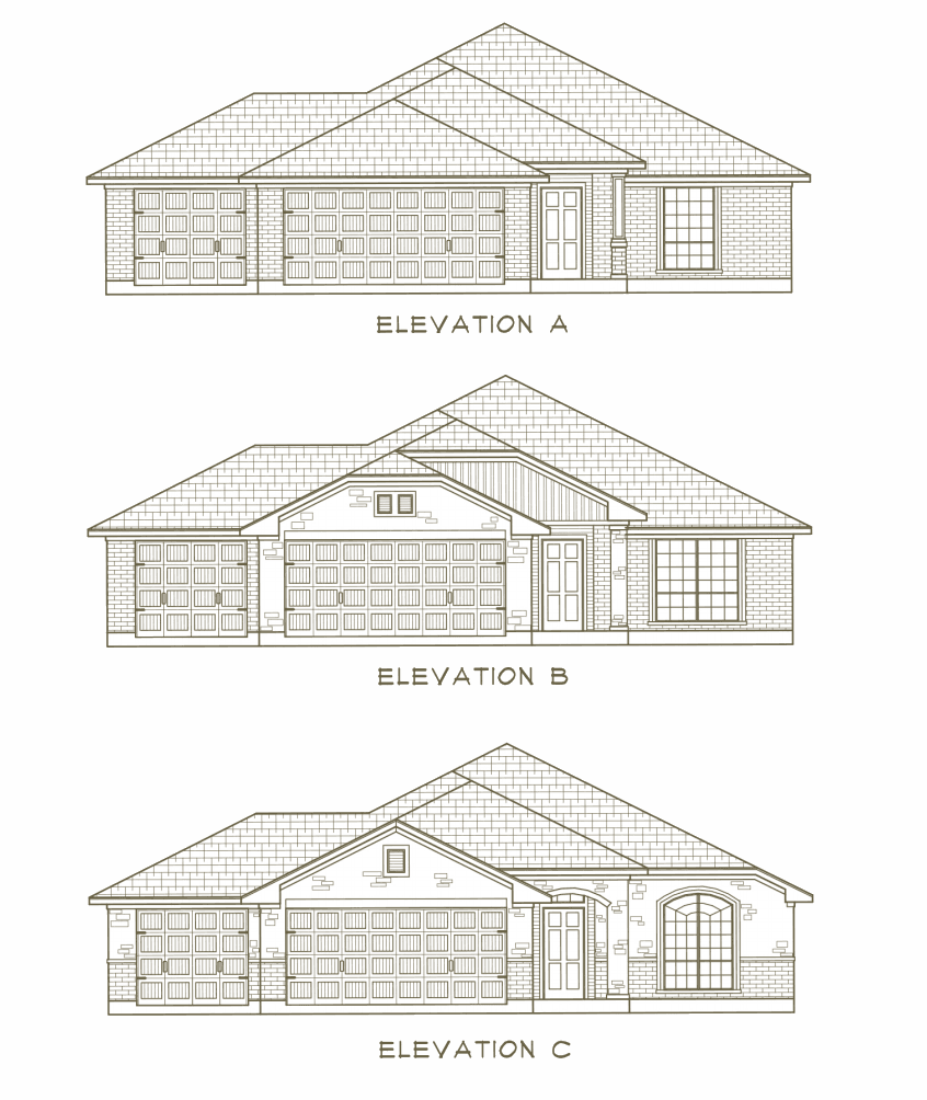 Exterior featured in the Mill Creek By Ashford Homes in Killeen, TX
