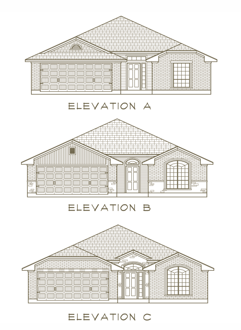 Exterior featured in the Spring Valley By Ashford Homes in Killeen, TX