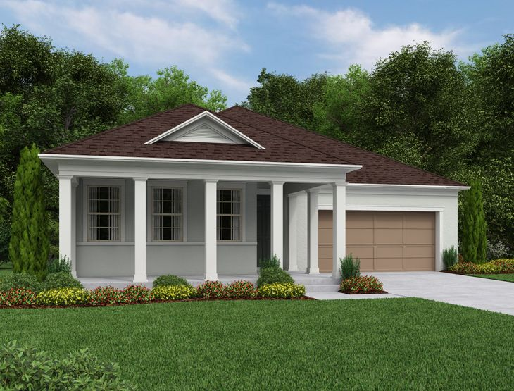 Exterior:Naples Elevation A Low Country