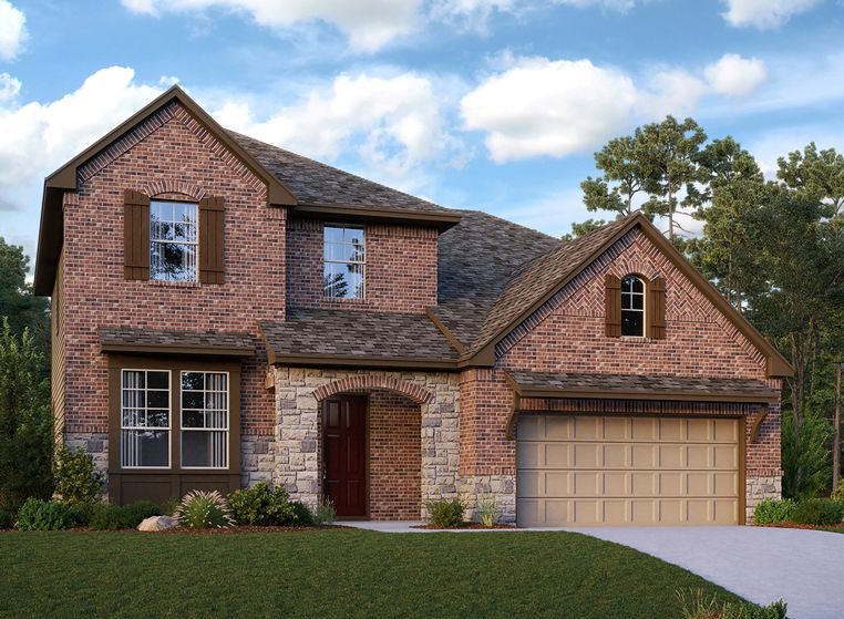 Exterior featured in the Curtis By Ashton Woods in Houston, TX