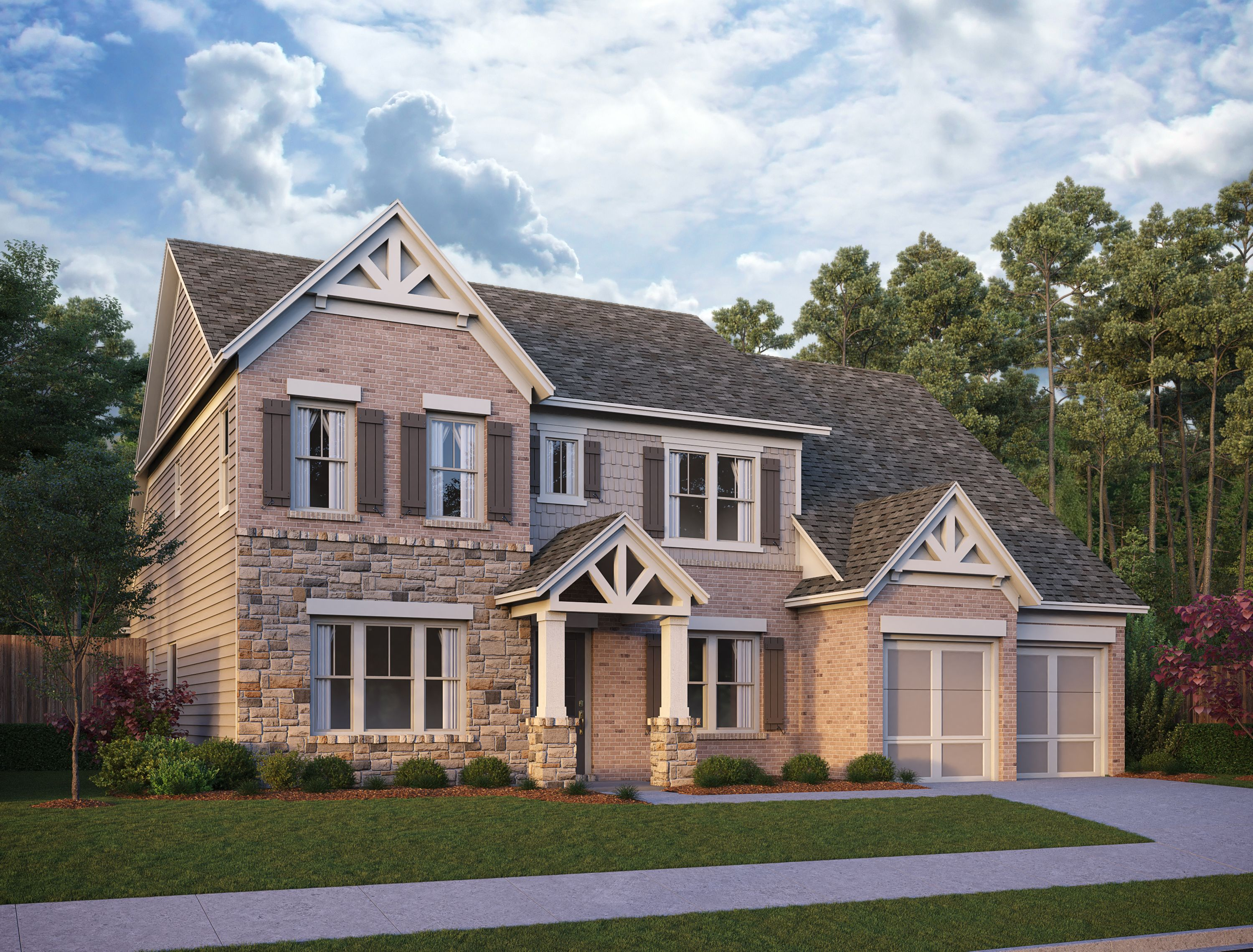 Exterior featured in the Kingsley By Ashton Woods in Atlanta, GA