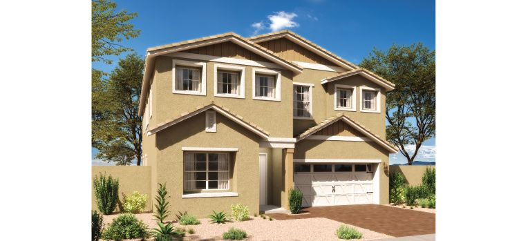 Exterior featured in the Stafford By Ashton Woods in Phoenix-Mesa, AZ