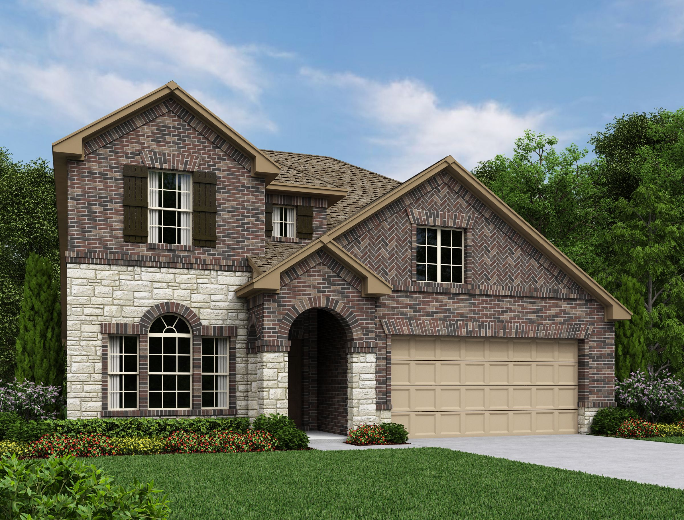 Exterior featured in the Odessa By Ashton Woods in San Antonio, TX