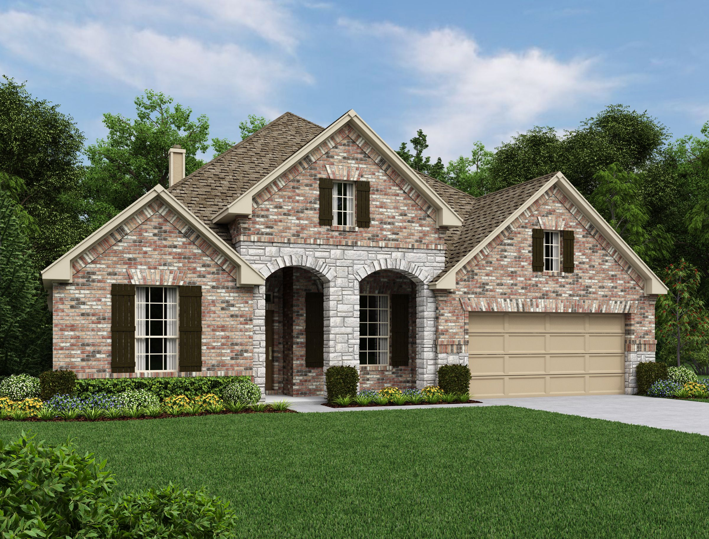 Exterior featured in the Carmen By Ashton Woods in San Antonio, TX