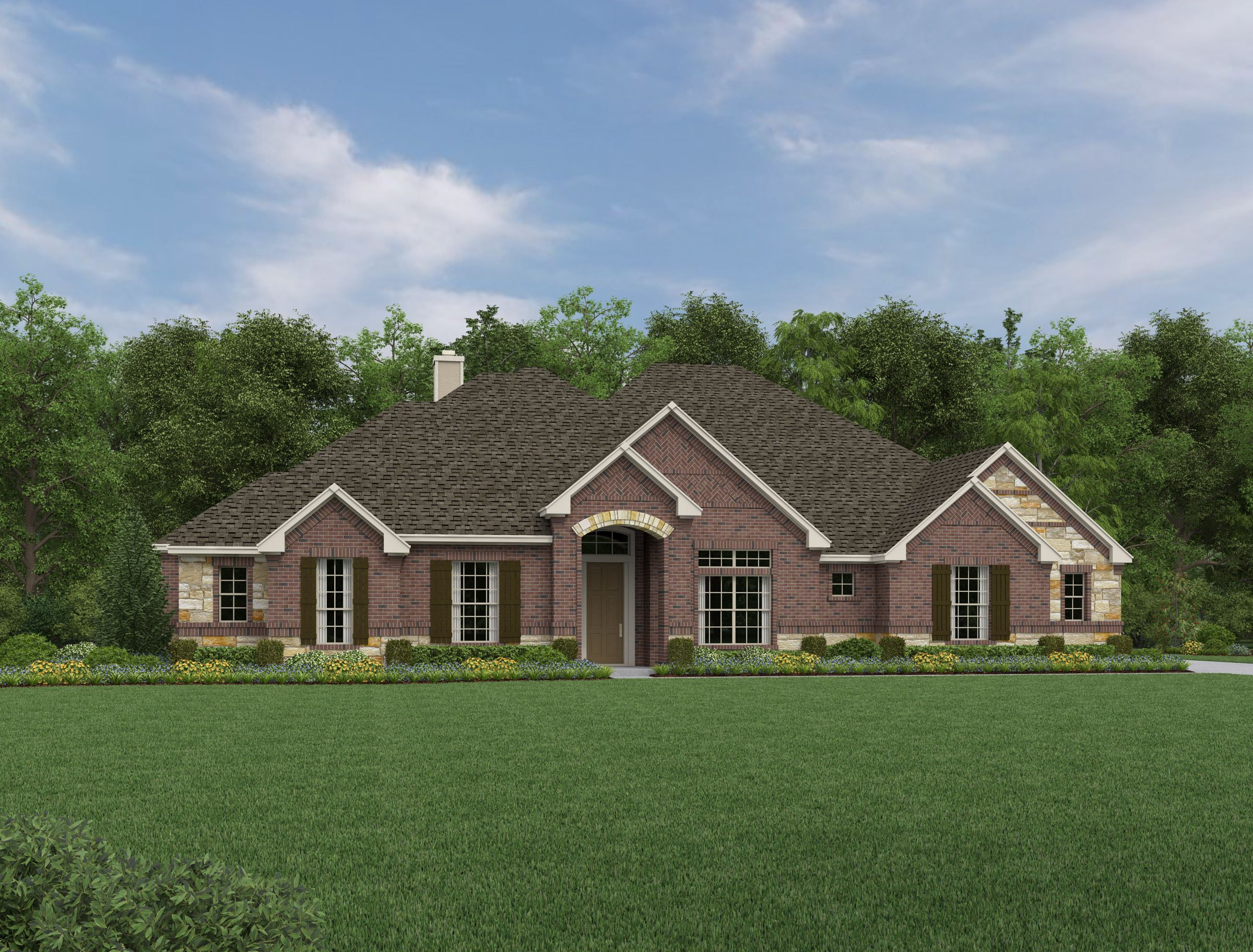 Exterior featured in the Kylie By Ashton Woods in San Antonio, TX