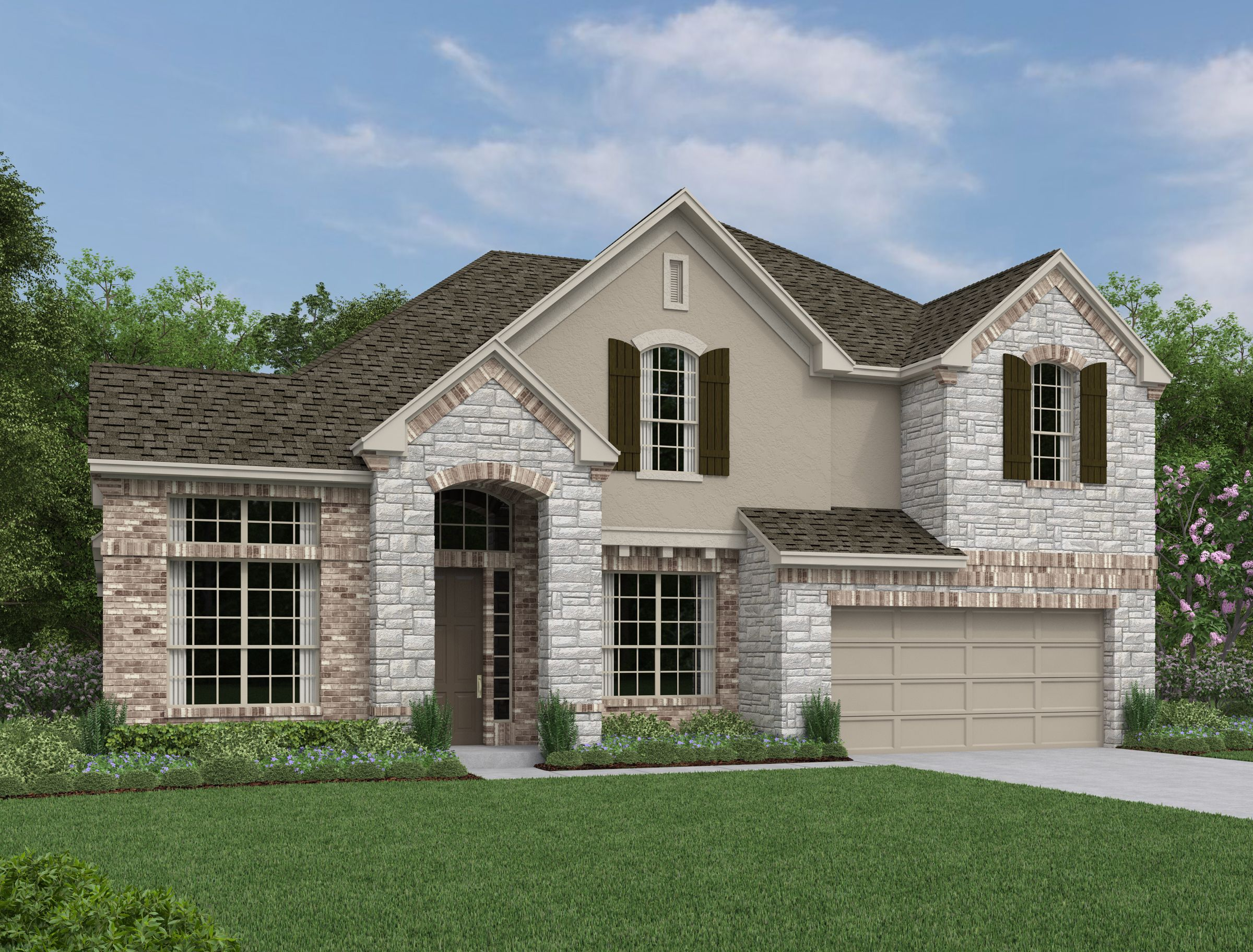 Exterior featured in the Barnett By Ashton Woods in San Antonio, TX