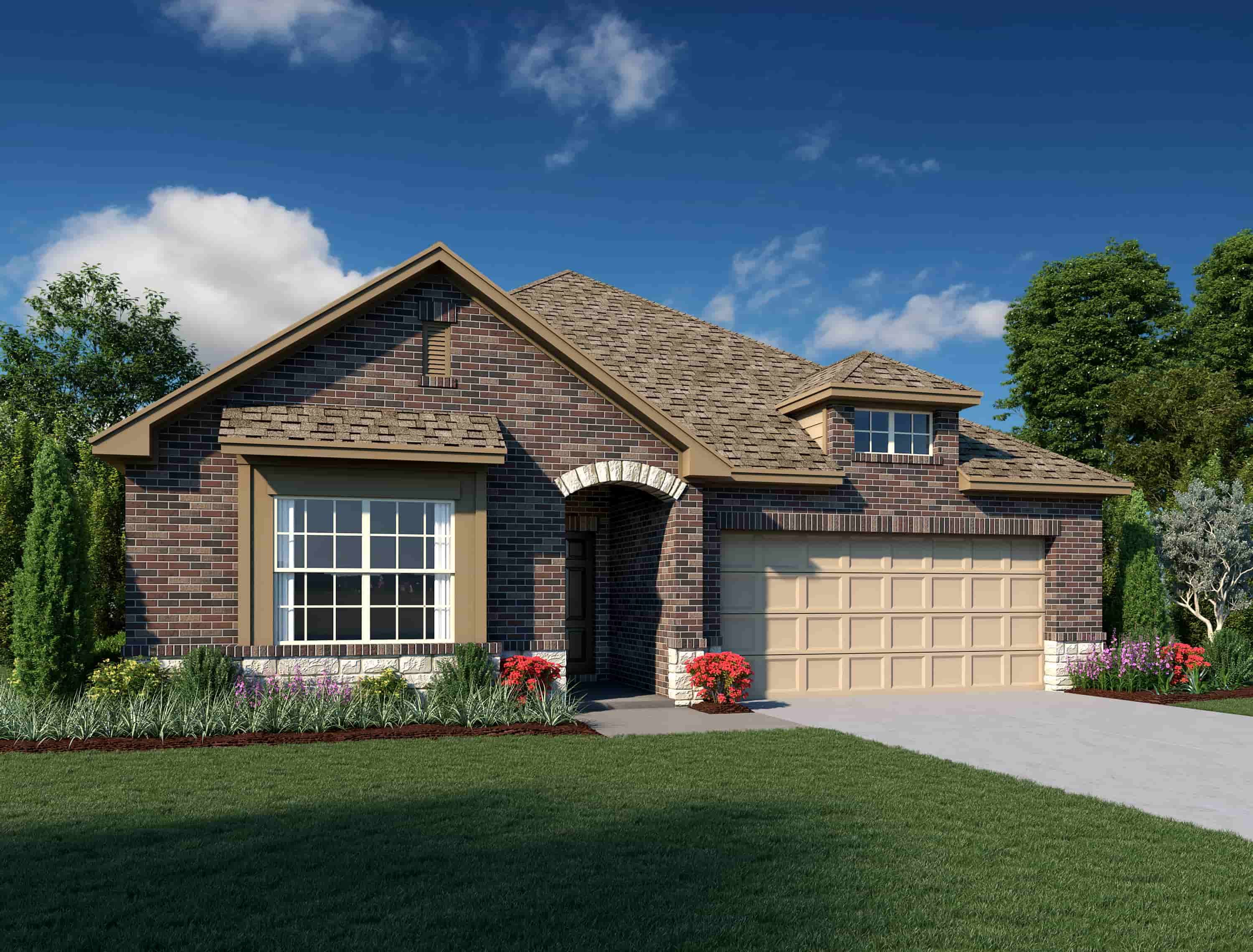 Exterior featured in the Victoria By Ashton Woods in San Antonio, TX
