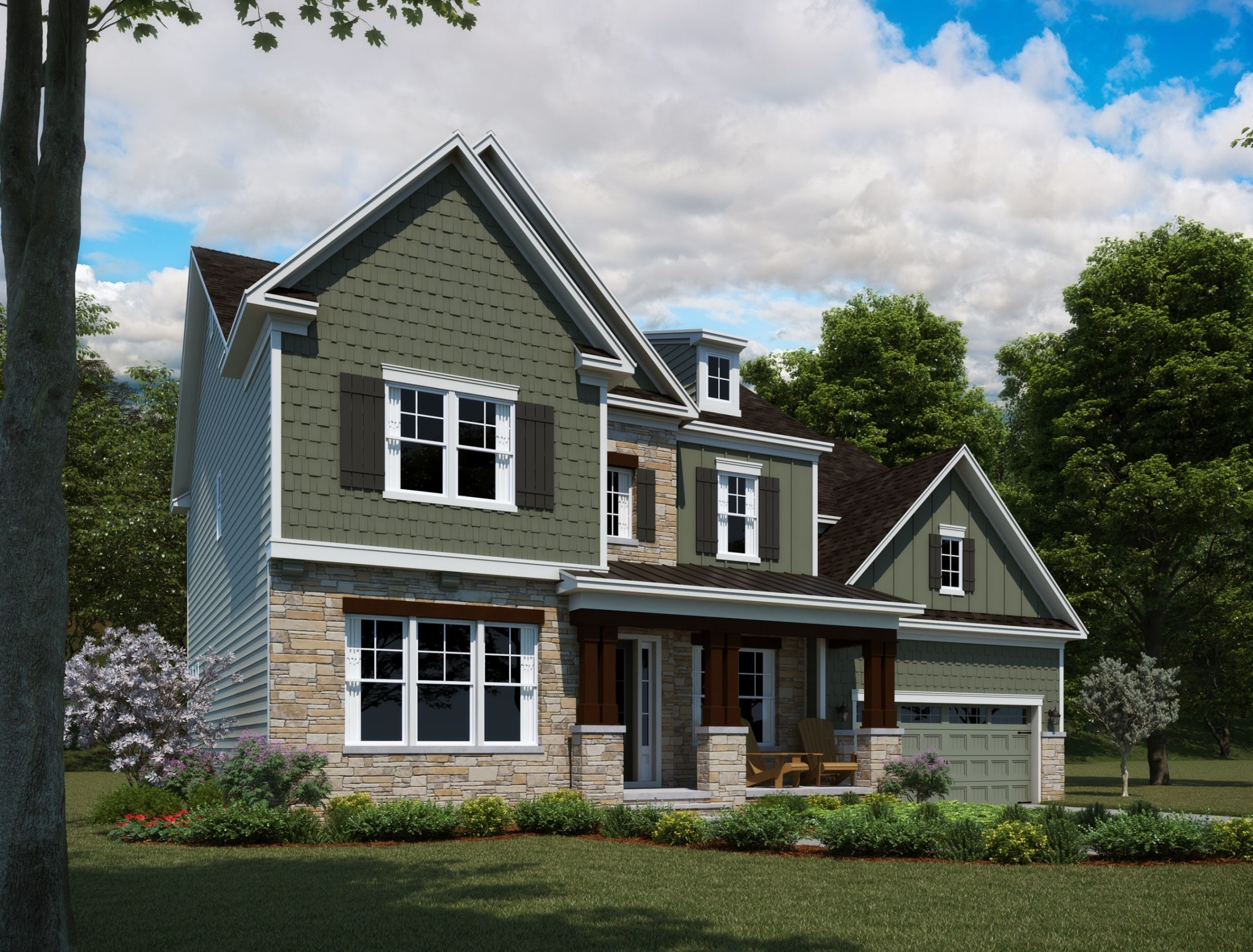 Exterior featured in the Hanover By Ashton Woods in Raleigh-Durham-Chapel Hill, NC